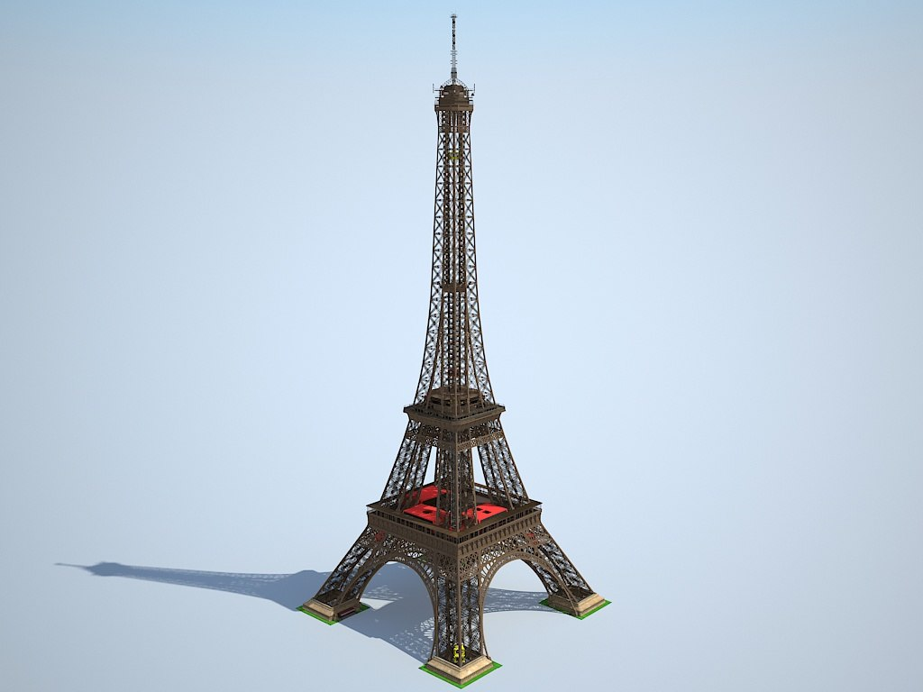 Eiffel tower 3d model for Eiffel tower model template