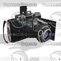 3d model old photo camera