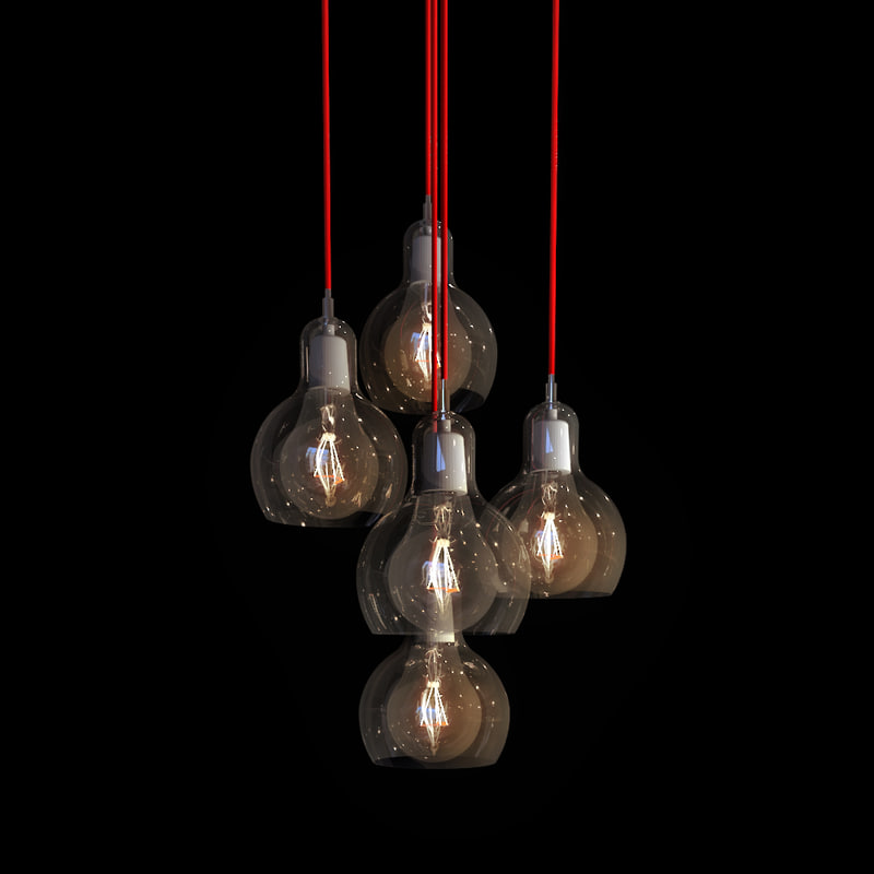 3d max lamp - light bulb
