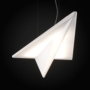 led lamp paper airplane 3ds free