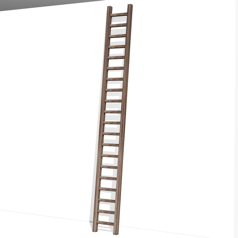3d wooden ladder model