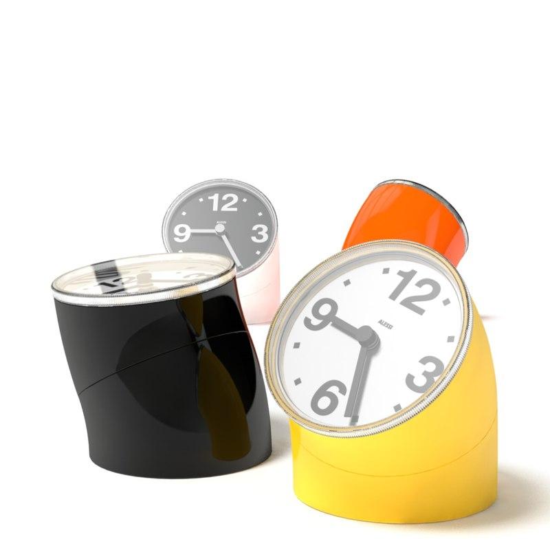 3d desk clock alessi cronotime