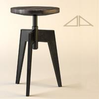 3d model contact stool