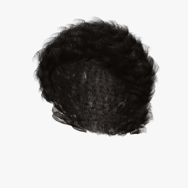 3d kenneth hair model