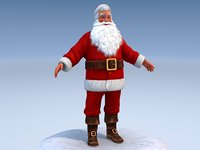 3d santa rigged claus