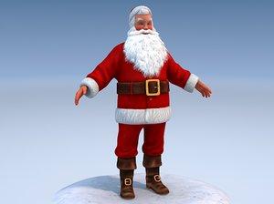 3d santa rigged claus