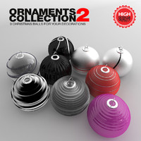 3d ornaments christmas decoration ball model