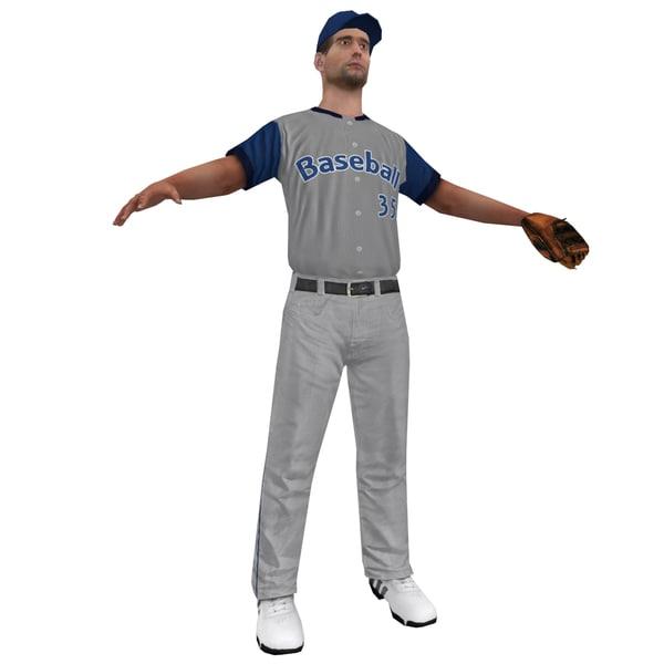 baseball player 2 3d max