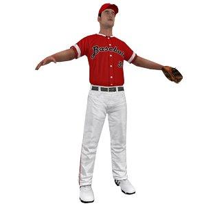 baseball player 3d model
