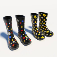 Flowery Wellies