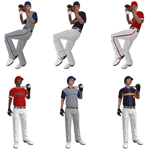 rigged baseball players ball max