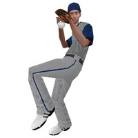 3d model rigged baseball player 2