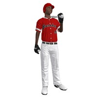 3d rigged baseball player ball model