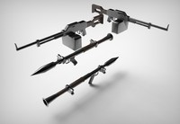 assault rifle grenade launcher 3d model
