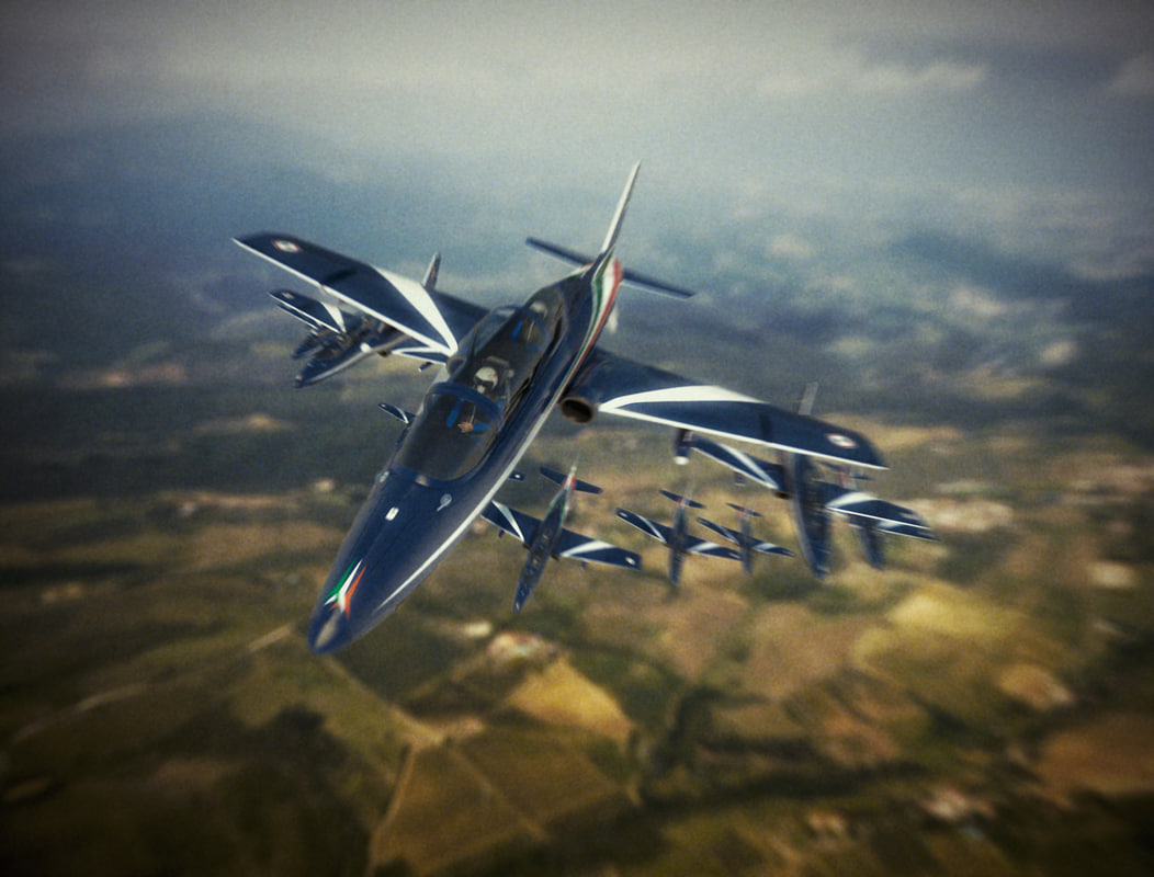 3d acrobatic italian airplane