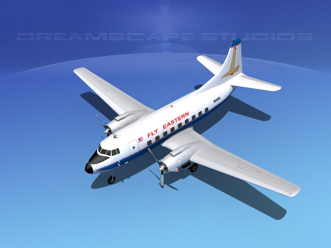 3d propellers martin 404 airlines model