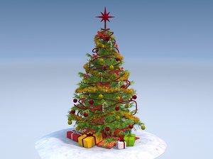 3d tree chrismas model