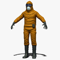 contamination suit 3d model