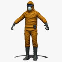 contamination suit 3d model