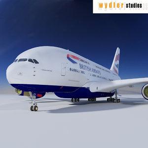 3ds a380 british airways