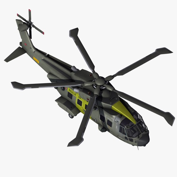3d model of aw101 joint support helicopter
