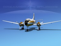 3d model propellers martin 404 airlines