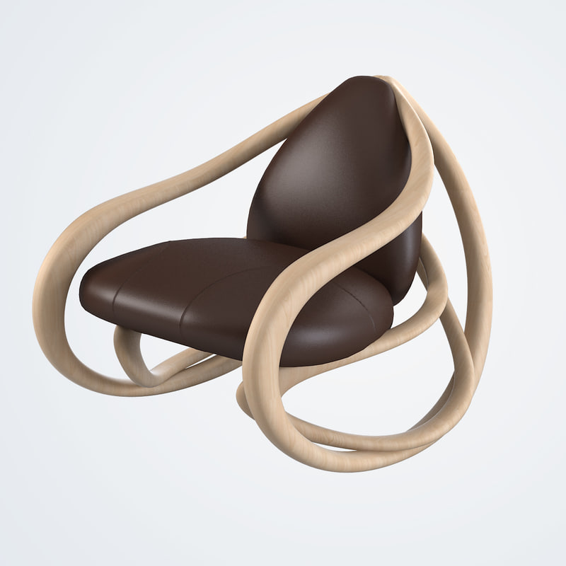 3d model giorgetti rocking chair 69810