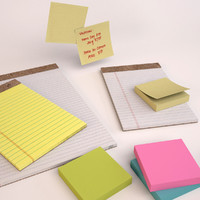 Legal Pads and Sticky Notes