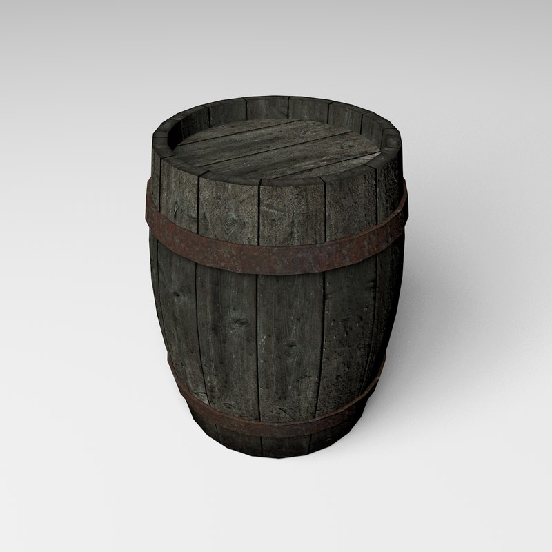 realtime barrel 3d model