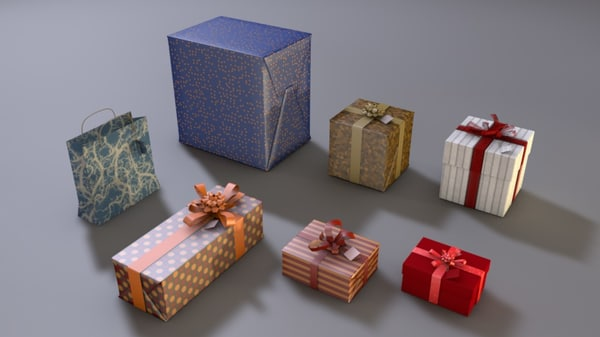gift wrappings 3d model