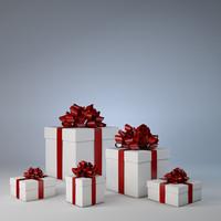 present christmas 3d model