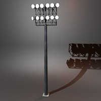 3d model stadium lighting