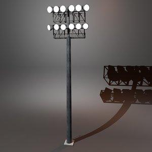3d model stadium lighting