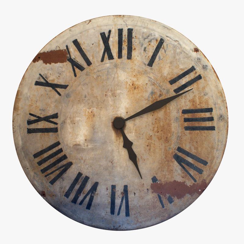 max rustic wall clock
