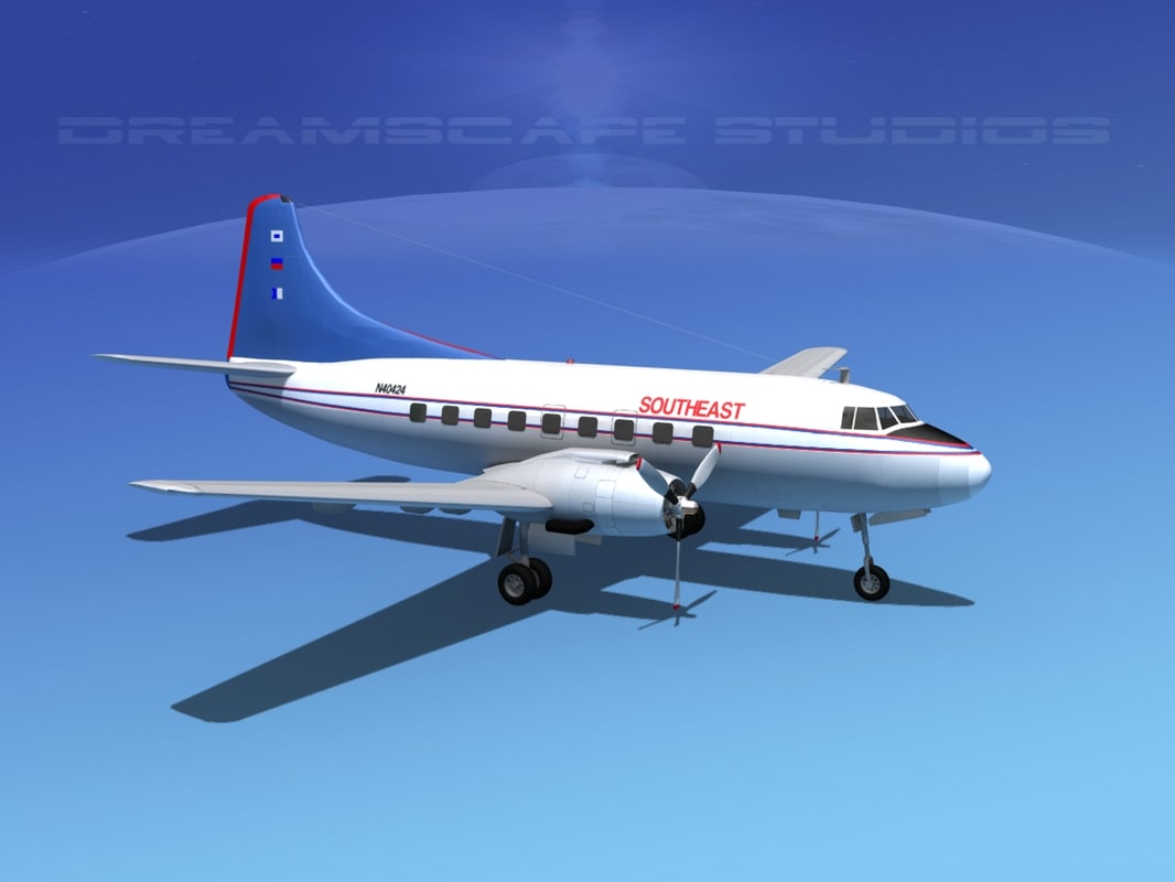 propellers martin 404 airlines 3d max