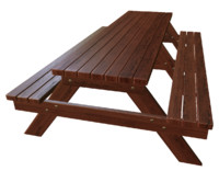 3d model bench arbor red