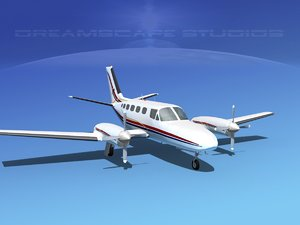 3d model of propellers cessna 441 conquest