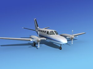 3d model propellers cessna 441 conquest
