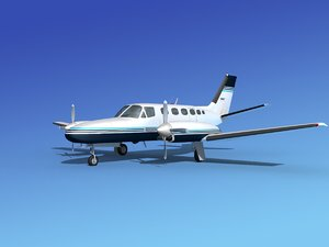 built cessna 441 conquest 3d model