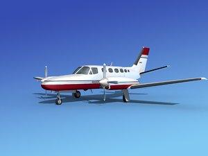 propellers cessna 441 conquest 3d max