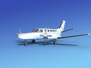 3d model propellers cessna 441 conquest