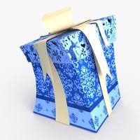 obj christmas gift present box