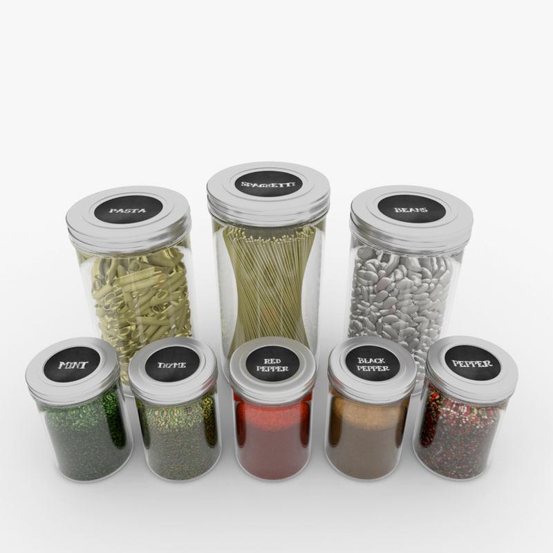 3d spice jar