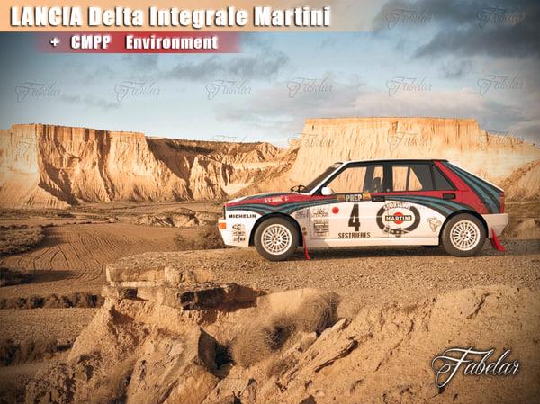 lancia delta martini environment 3d max