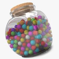 3d food jar model