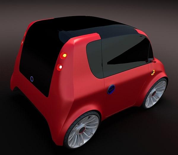 compact car 7 3d model