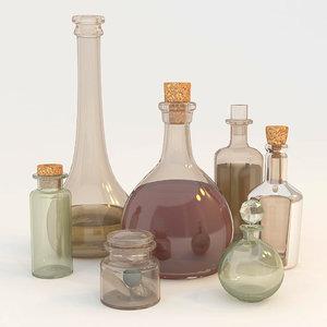 3ds liquid bottle