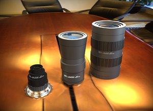camera lenses cctv 3d 3ds