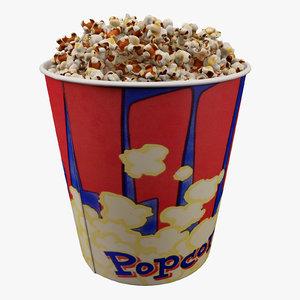 3ds max popcorn bucket 3 7l