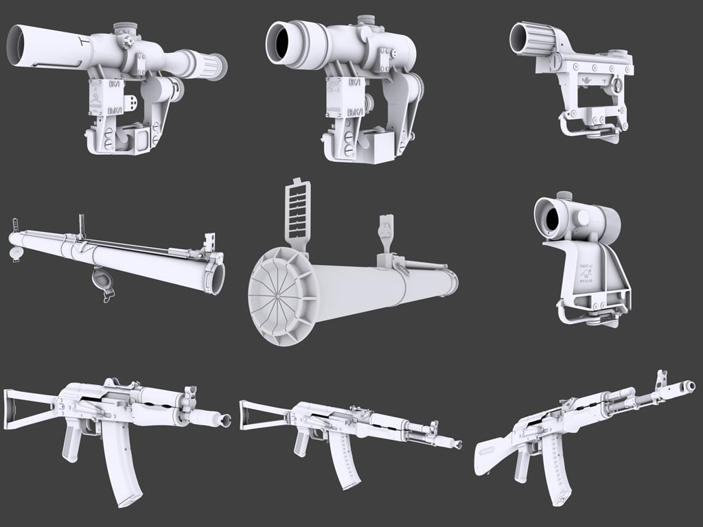 3d pack weapons gears